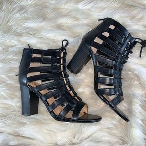 XOXO Strappy Block Heels
